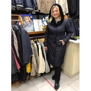Женское зимнее пальто с капюшоном ALBANA